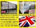 Kiváló minőségű Angol használtruha és cipő eladó